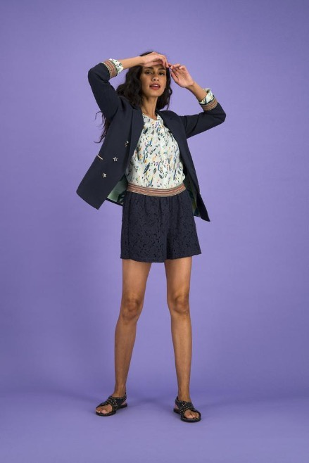 POM Blazer Deep Blue Confetti Kisses