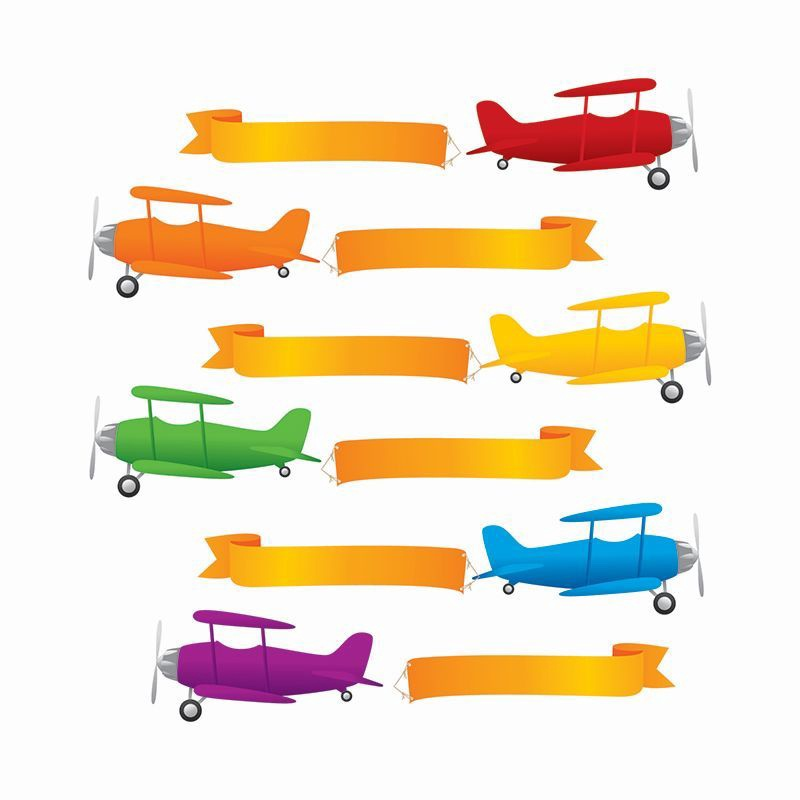 EP 62100 PLANES AND BANNERS CUTOUTS