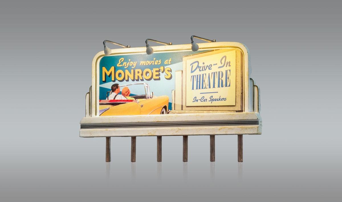 Just Plug #JP5794 HO Munroe's Drive-In Theatre