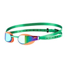 Fastskin Elite Mirror Goggles Fluro Orange/Lawn Green