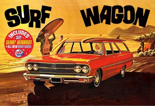 AMT# 1131   1/25 1965 Chevelle Surf Wagon