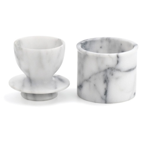 RSVP White Marble Butter Pot
