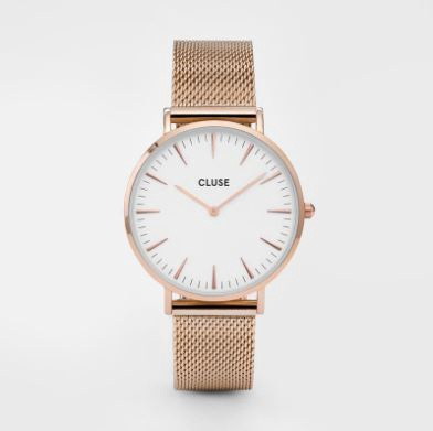 Cluse Watch CL18112 La Boheme Large Face Rose gold Mesh