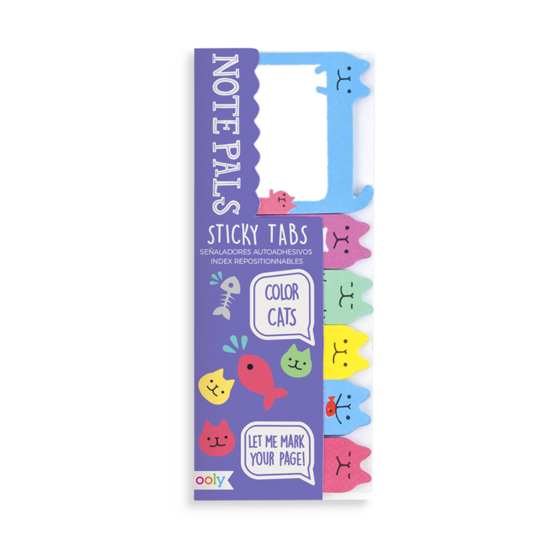 NOTE PALS STICKY NOTE TABS COLOR CATS