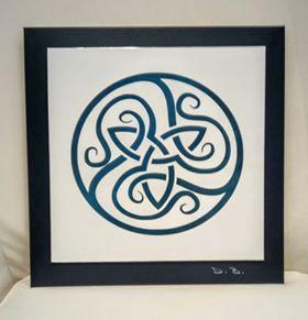 Celtic Triselisk ACP on Coloursteel Backing