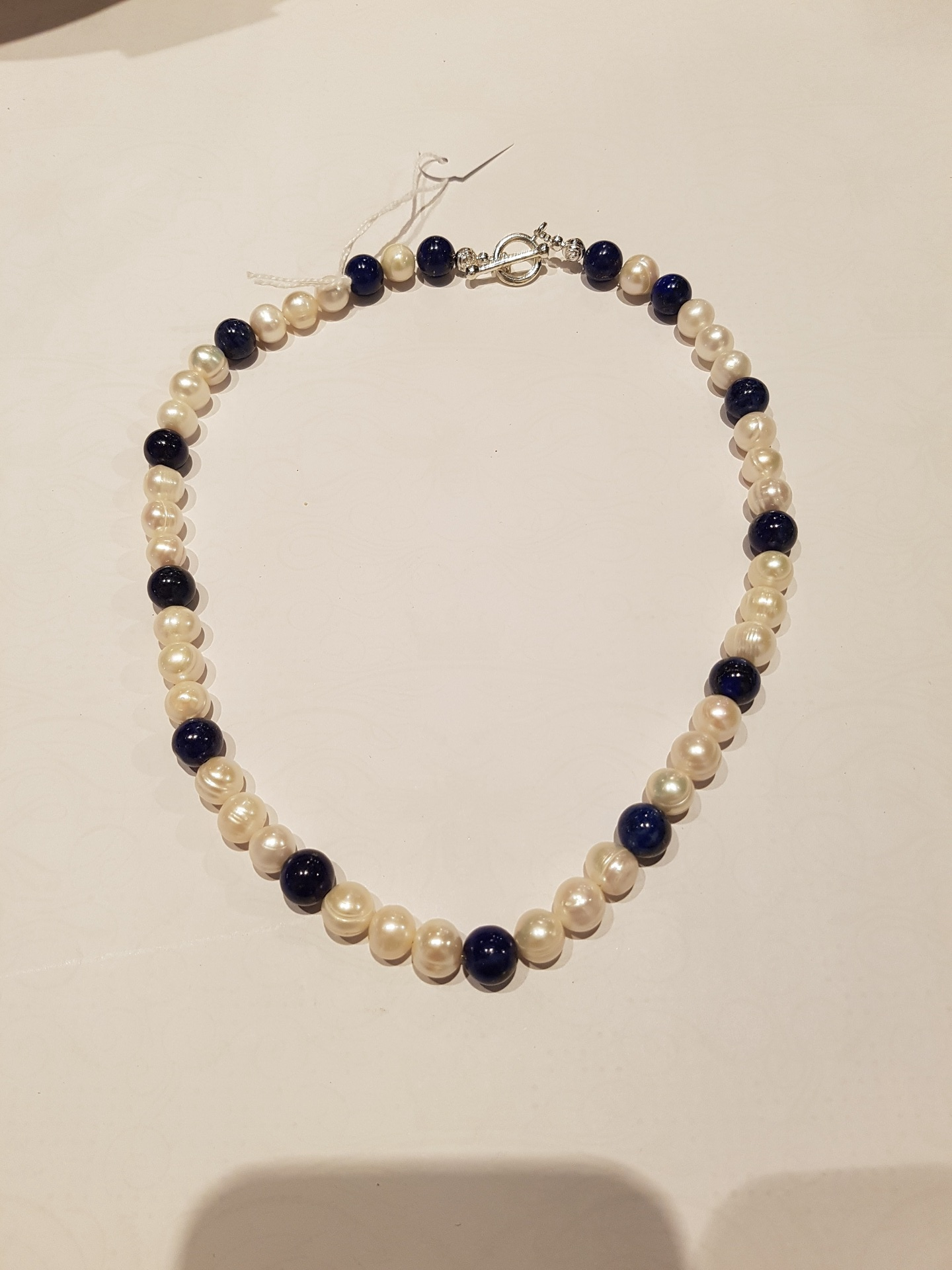 Fresh Water Pearl and Lapis Necklace