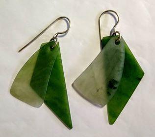 Thin inanga and cascade earrings 1-357