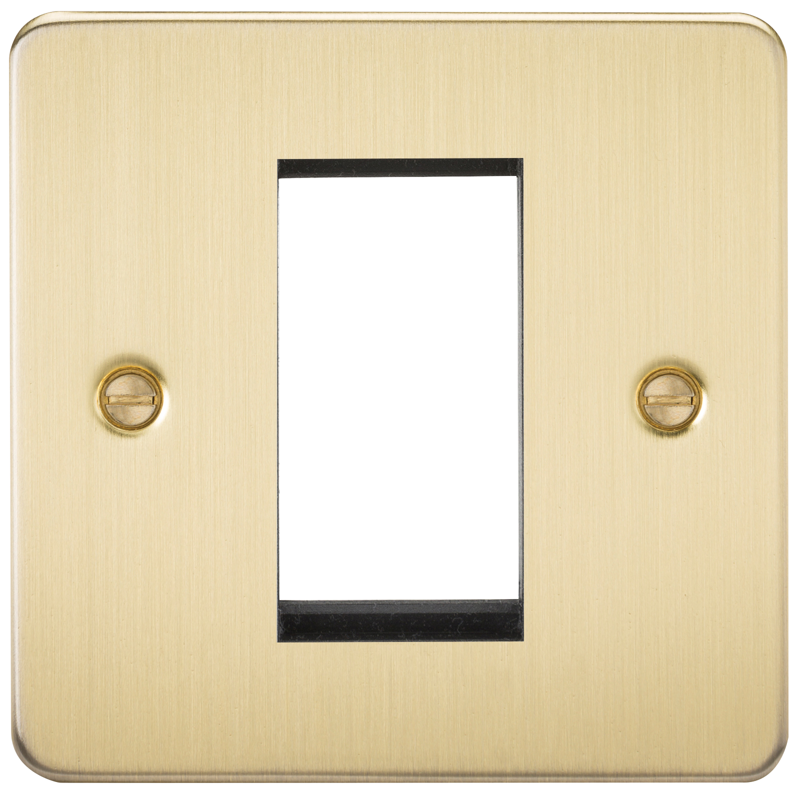 FLAT PLATE 1G MODULAR FACEPLATE - BRUSHED BRASS