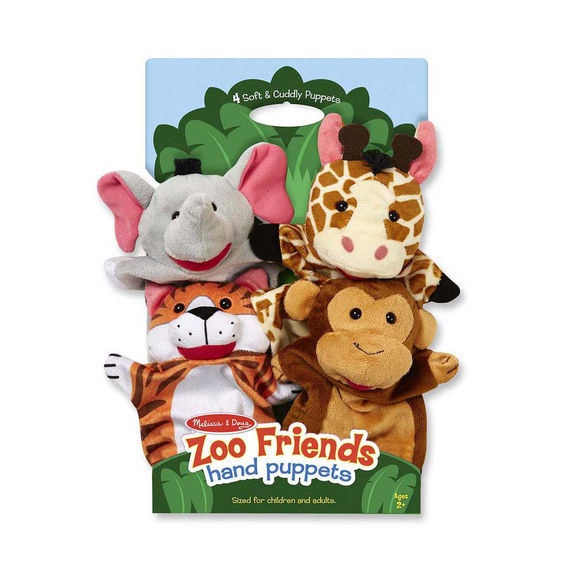MD 9081 ZOO FRIENDS HAND PUPPETS