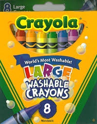 8 LARGE WASHABLE CRAYONS