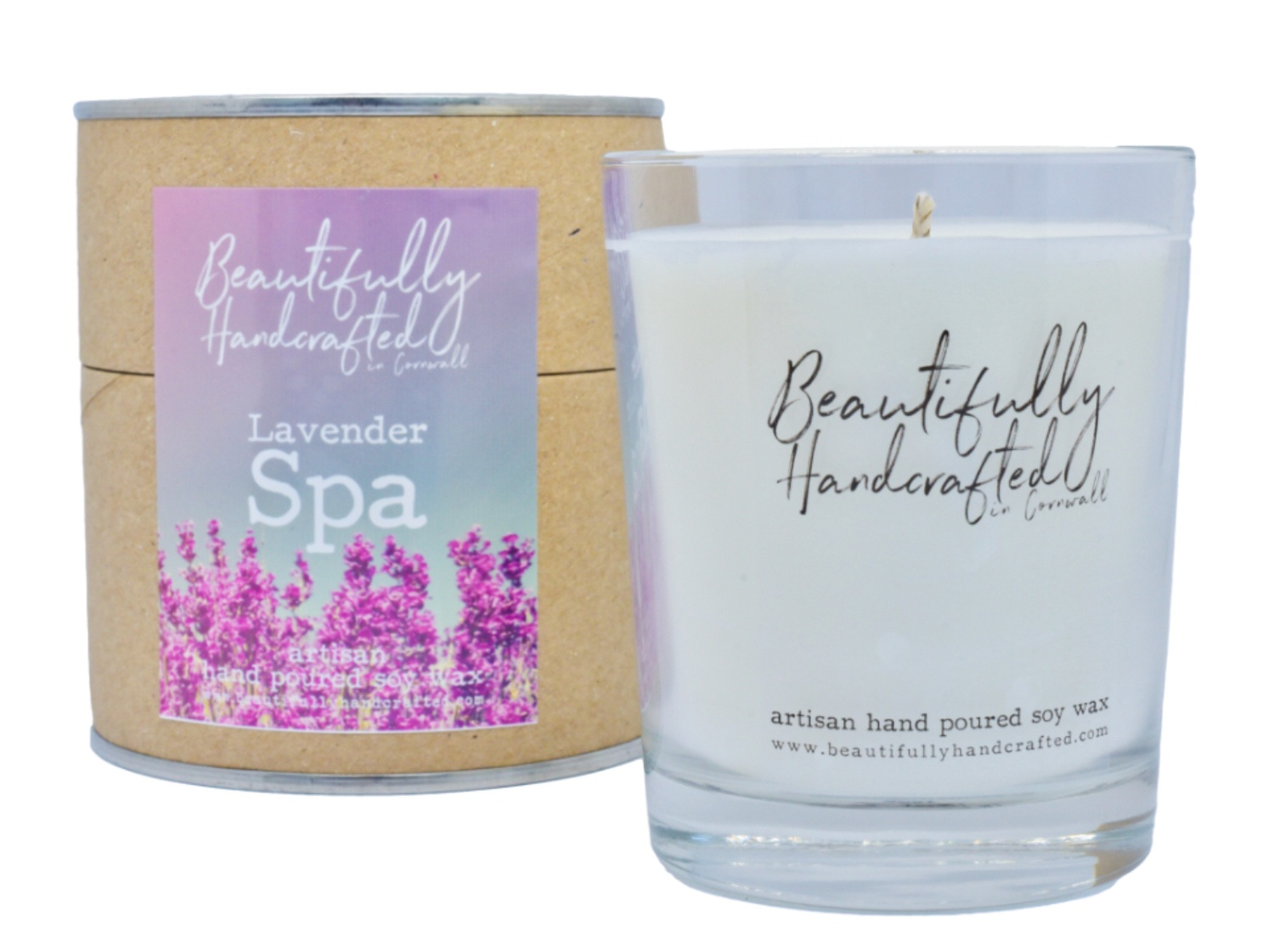 Beautifully Hand Crafted Lavender Spa Jar Candle