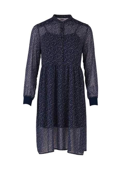 Daisy Print Dress With Rib sleeves by Saint Tropez