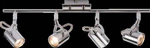 230V GU10 Quad Bar Spotlight - Chrome