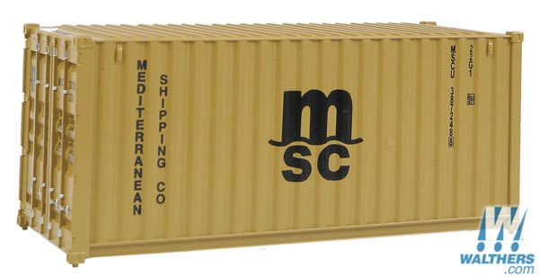 Walthers SceneMaster #949-8057 HO 20' Fully Corrugated Container
