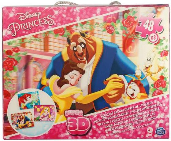 DISNEY PRINCESS SUPER 3D PUZZLES 48