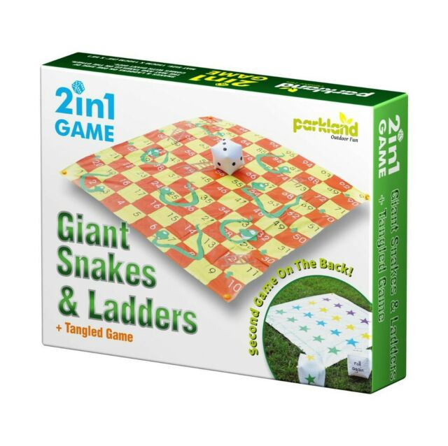 2 IN 1 SNAKE & LADDERS GIANT GAME