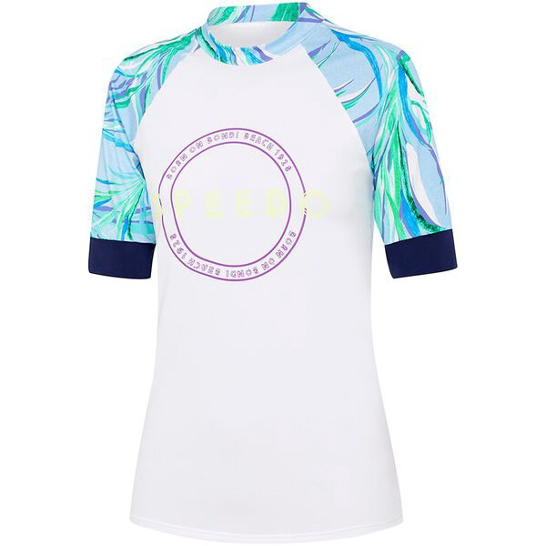 Womens Eco Fabric Logo Short Sleeve Rashie