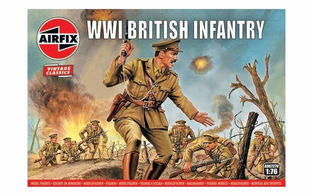 Airfix #A00727V 1/76 WWI British Infantry-Vintage Classics