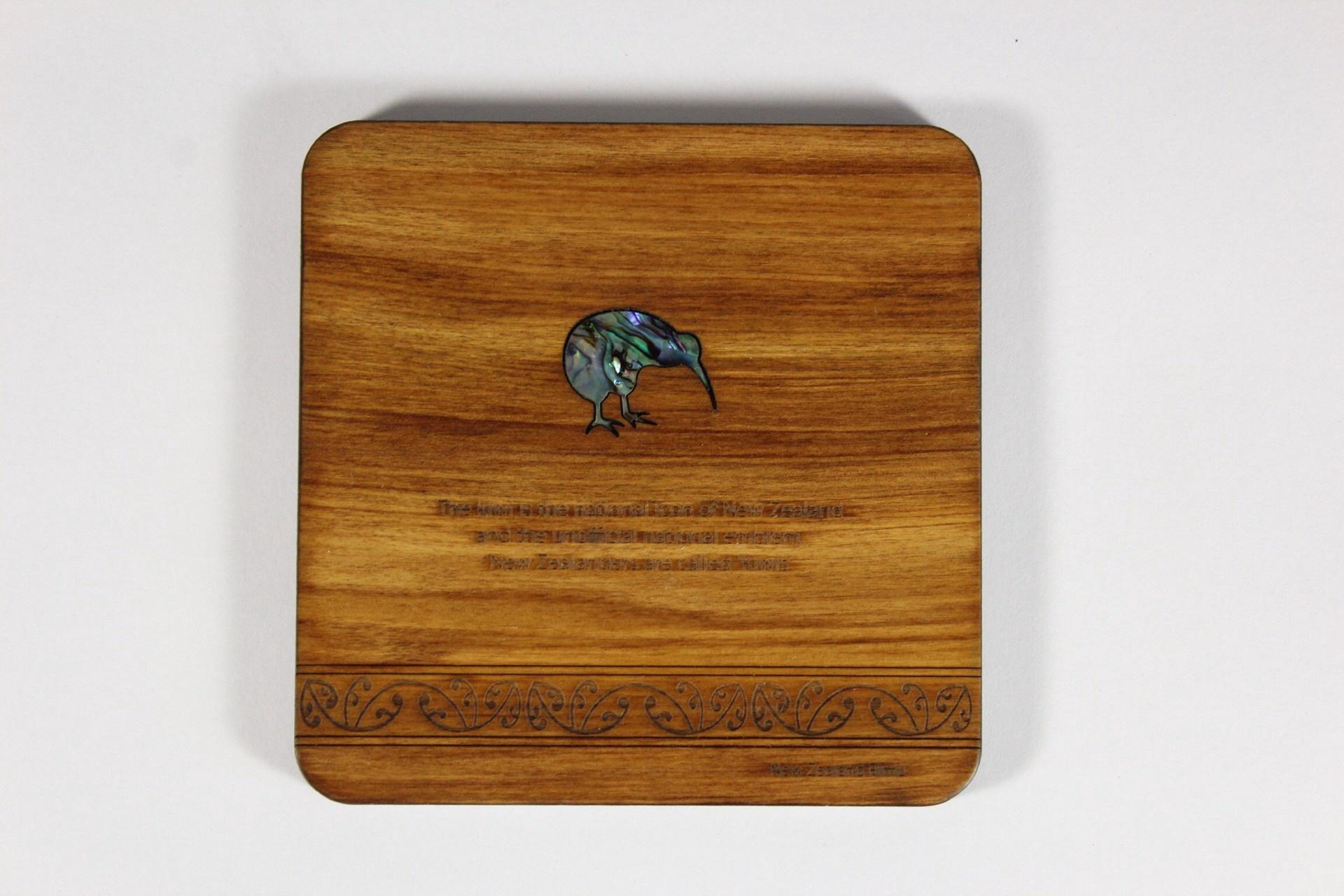 Single Coaster With Paua Inlay