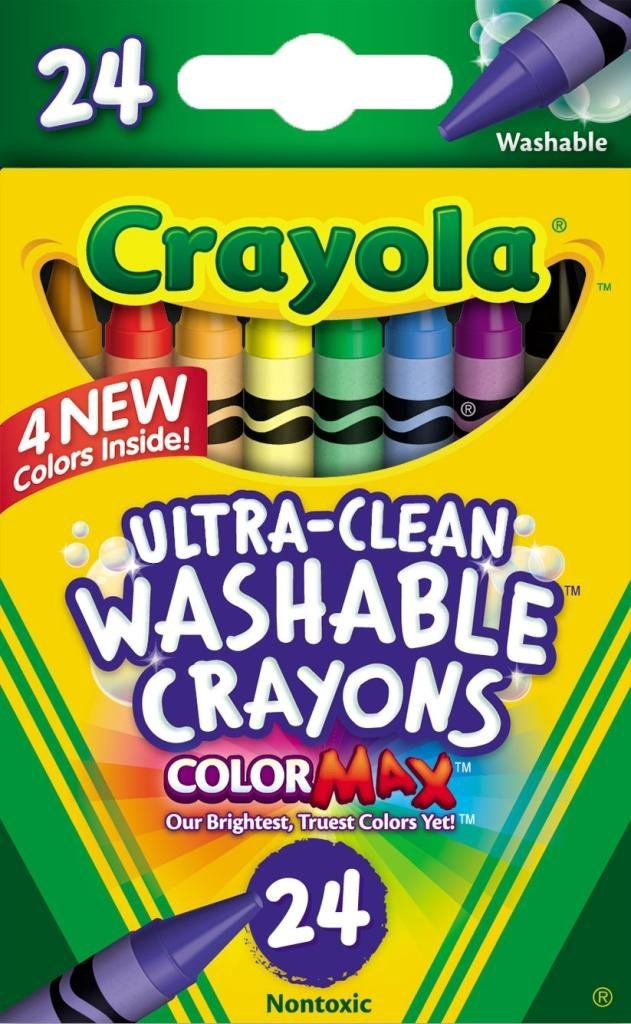 24 COLOUR WASHABLE CRAYON