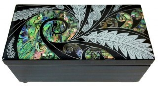 Box Black with Paua inlay