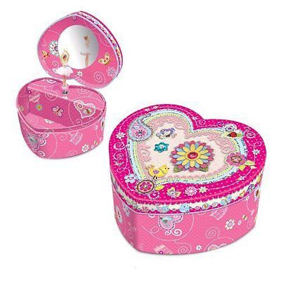 HEART SHAPE MUSICAL JEWELRY BOX