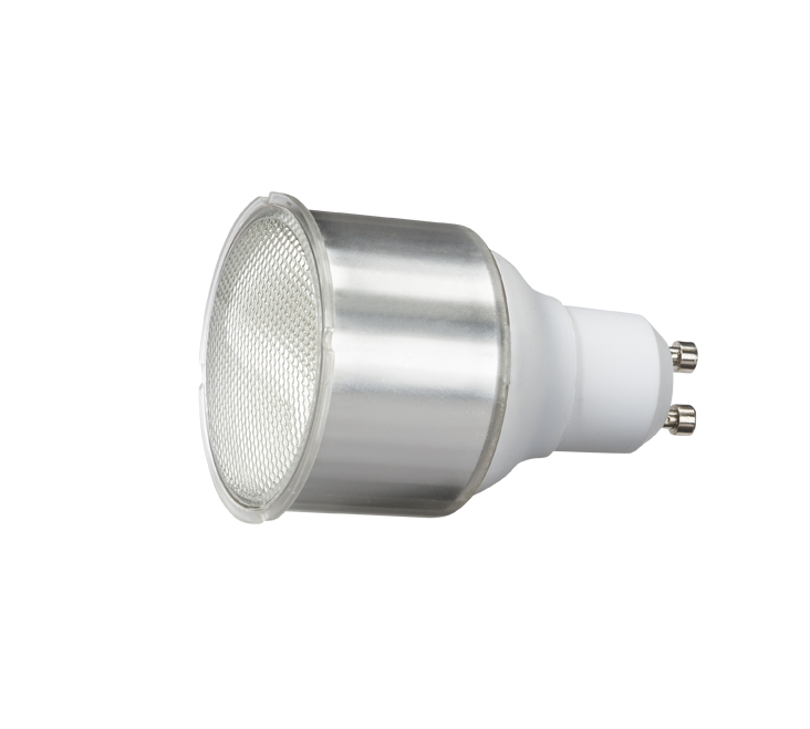 230V 11W GU10 Compact Fluorescent Lamp Warm White 2700K