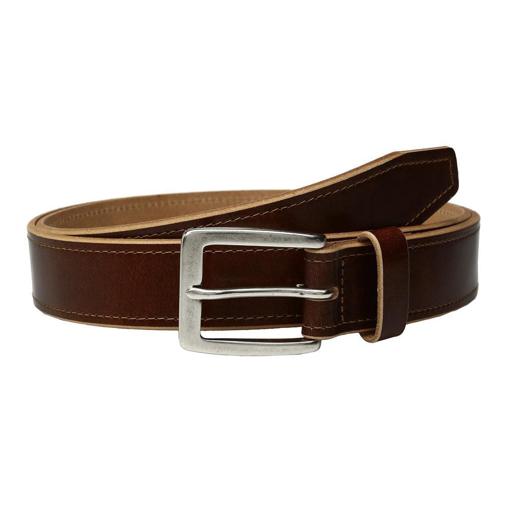 JOHNSTON & MURPHY - RAW EDGE SINGLE STITCH BELT IN TAN