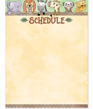 CTP 2795 SAFARI FRIENDS SCHEDULE CHART