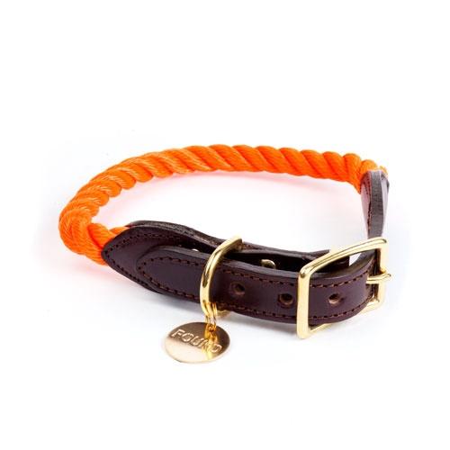 Rescue Orange Rope Dog Collar | Extra Large