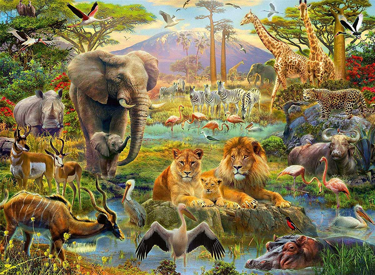 ANIMALS SAVNNA PUZZLE 200 PCS