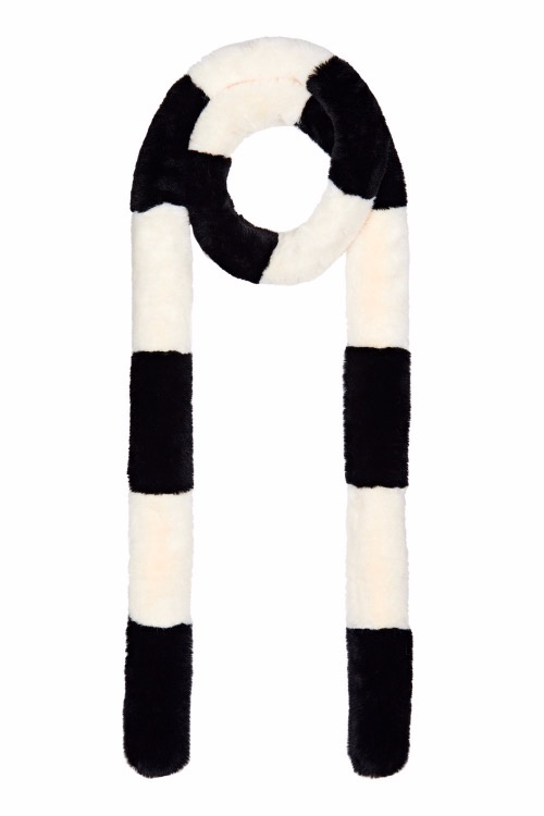 Nooki Striped Pasha Scarf Black/White