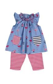 Dress/leggings set flamingo