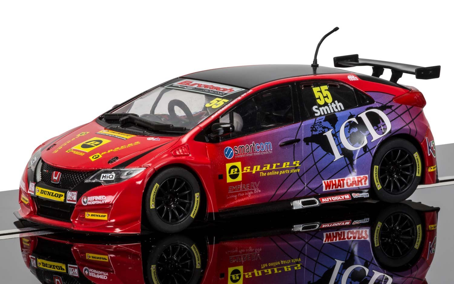 Scalextric #C3860 1/32 2016 BTCC Hoda Civic Type R