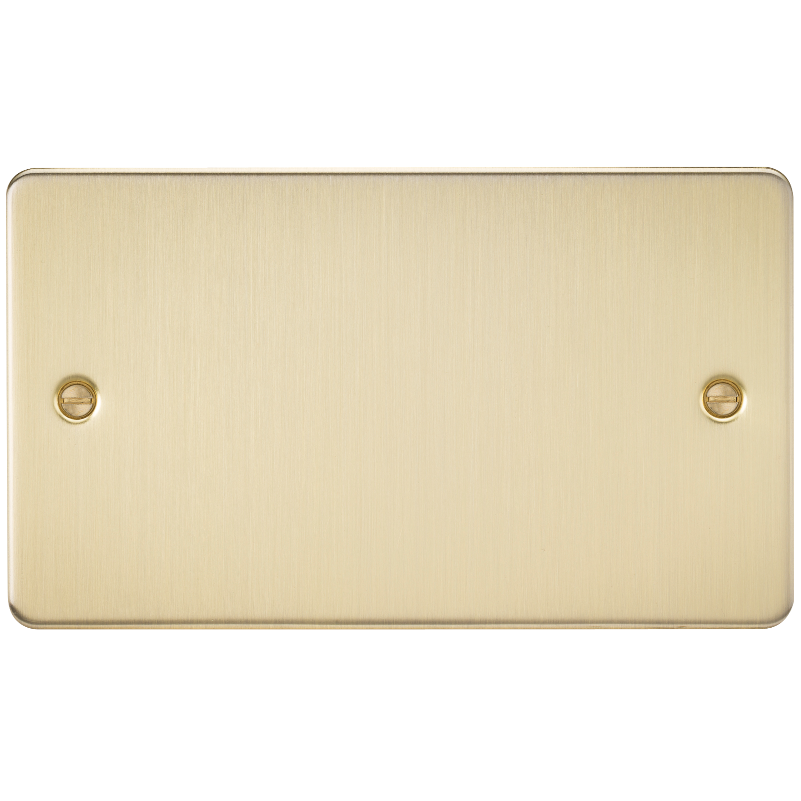FLAT PLATE 2G BLANKING PLATE - BRUSHED BRASS