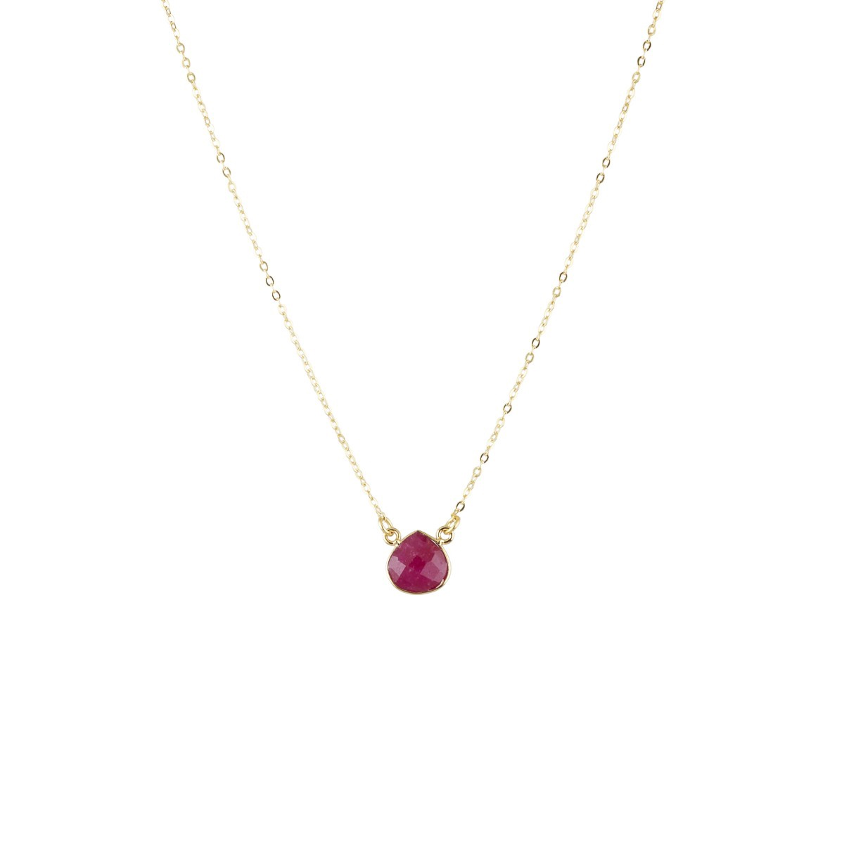 Teardrop pendant in Berry agate by Ashiana