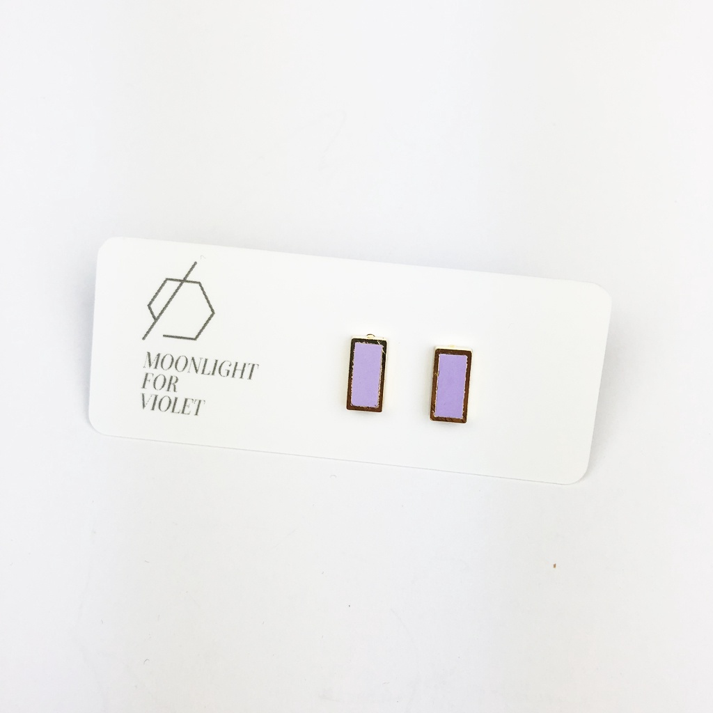 Rectangle Clay Studs