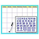 X DC T 27802 BLUE PLAID CALENDAR CLING KIT