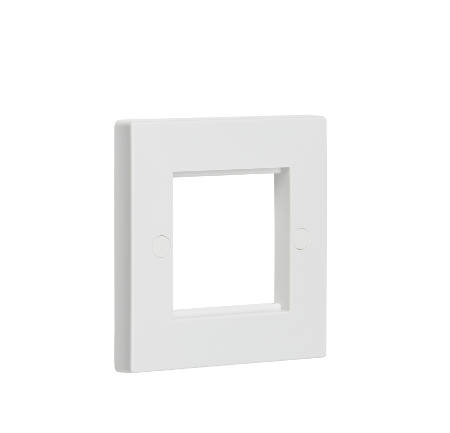 2G White Modular Faceplate