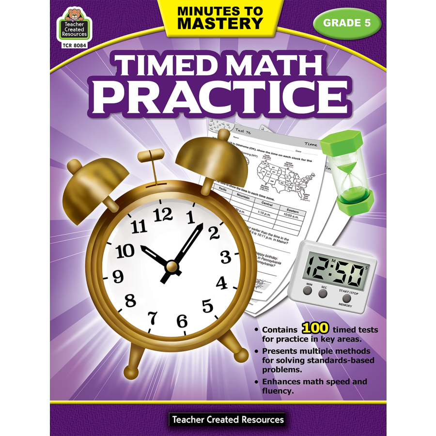 X TCR 8084 MINUTES TO MASTERY TIMED MATH G5
