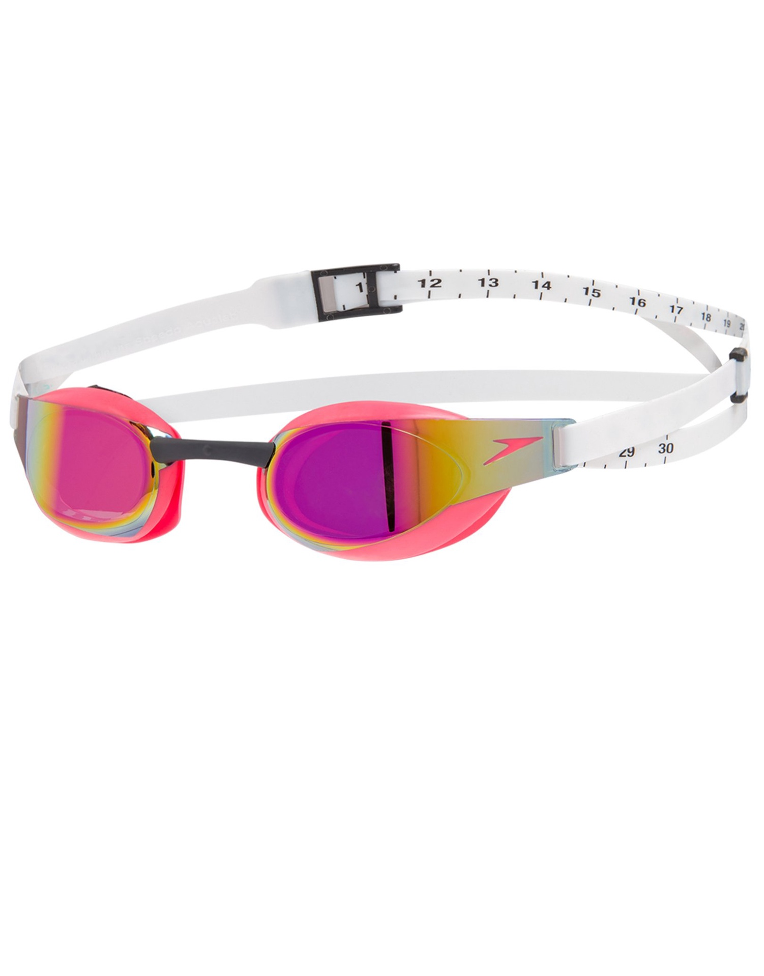 Fastskin Elite Mirror Goggles White/Psycho Red/Red