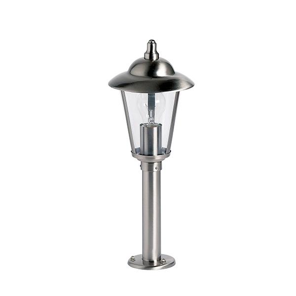 Klien post IP44 60W floor - polished stainless steel