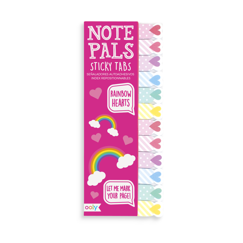 NOTE PALS STICKY NOTE TABS RAINBOW HEARTS