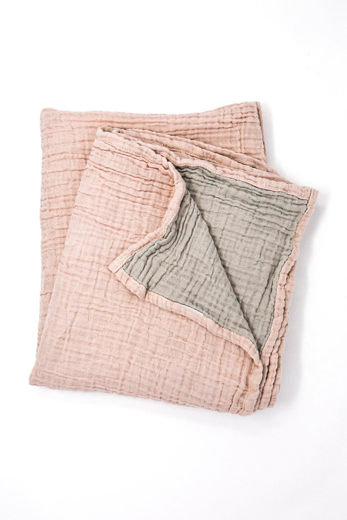 Turkish Cotton Baby Blanket | Pink