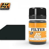 AK Interactive #AK071 Blue Enamel Filter for Panzer Grey