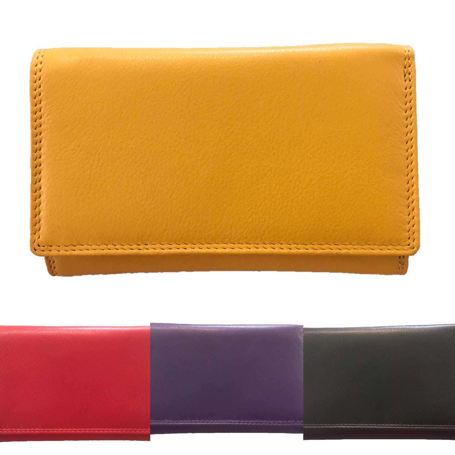 Caribbean Medium Leather Purse RFID Protected