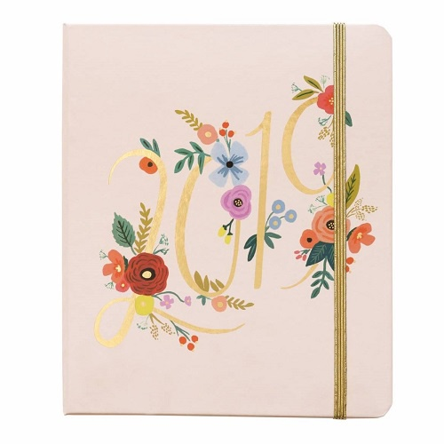 2019 Bouquet Covered Spiral Planner