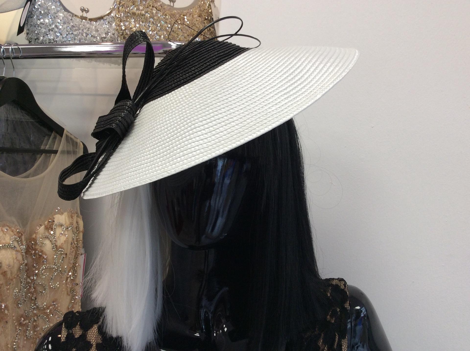 Stunning white and black headpiece