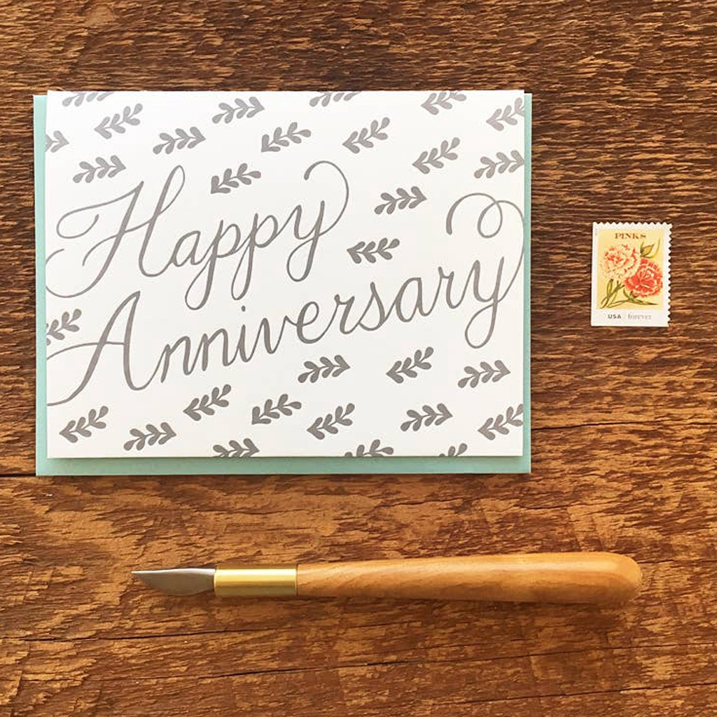 Happy Anniversary Vine Card