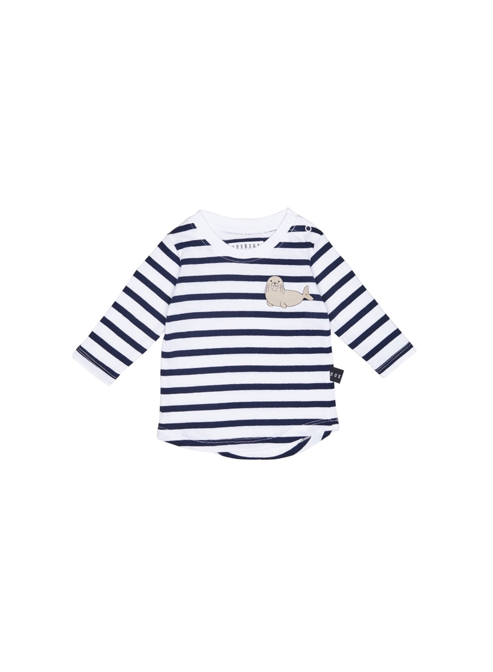 NAVY + WHITE STRIPE L/S TOPS